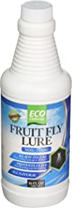 Eco Defense Fruit Fly Trap – Natural Non Toxic Fruit Fly Lure for Kitchen, Resturants, and More (16 oz)