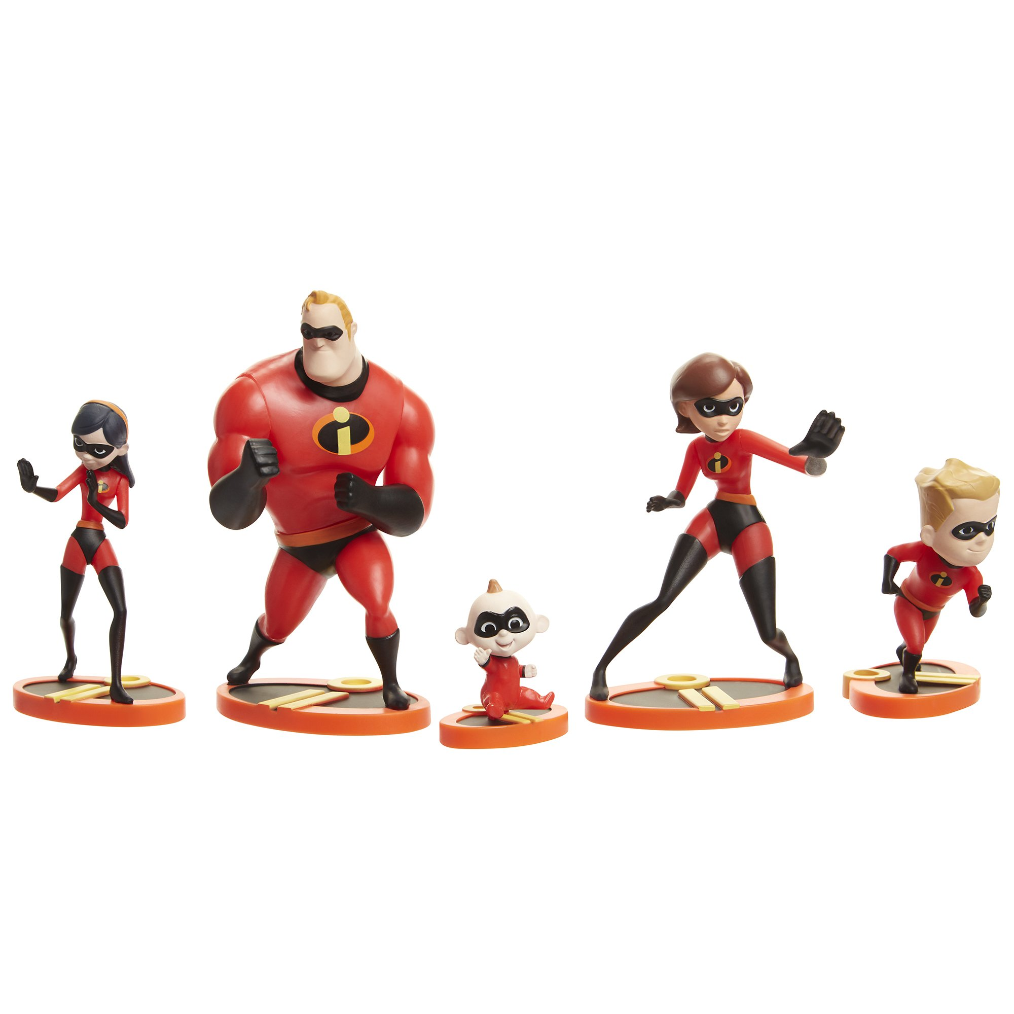The Incredibles 2, 5 Piece Family Figure Set Comes with (Mr./Mrs. Incredible, Violet, Dash, Jack Jack) by The Incredibles 2 (Image #1)