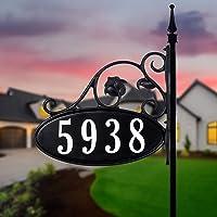 "Vintage Retro Aluminum House Number 8 3/"" Sign Address Number 8 40s 50s"