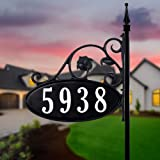 USA Handcrafted -Yard Sign Address Plaque with