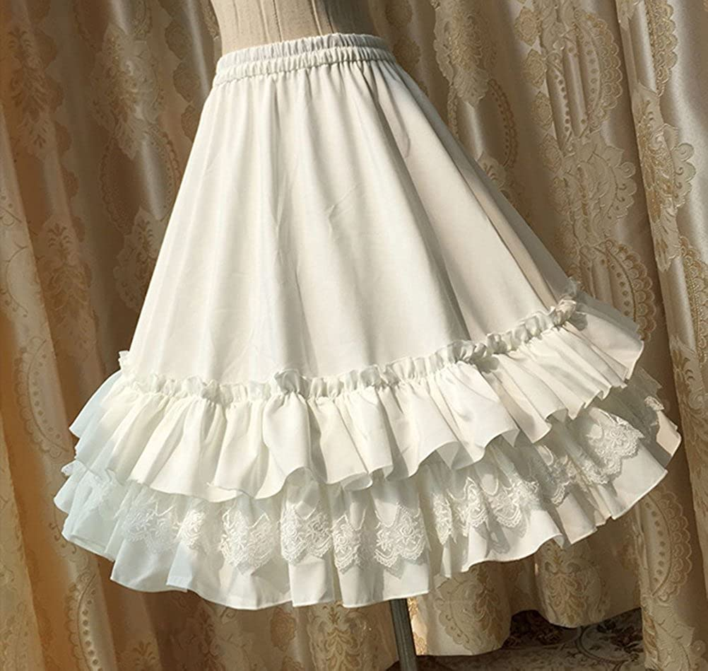 Nuoqi Womens 50s Petticoats Sweet Lolita Dress Lace Tutu Swing Skirts