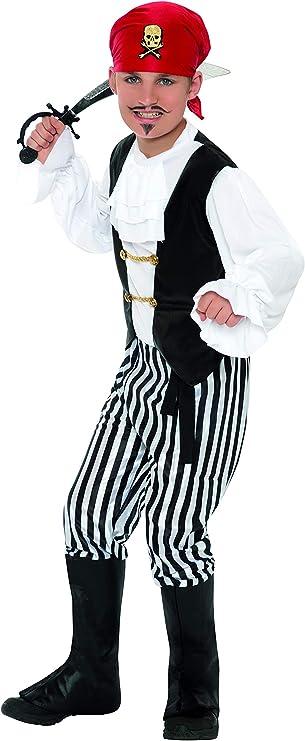 Smiffys 25761M - Disfraz de pirata para niño, talla M (7 - 9 años), 130-143 cm: Smiffys: Amazon.es: Juguetes y juegos
