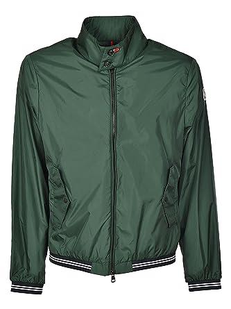 7ca9b68fb Moncler Allier Green Nylon Bomber Jacket Uomo 5  Amazon.co.uk  Clothing