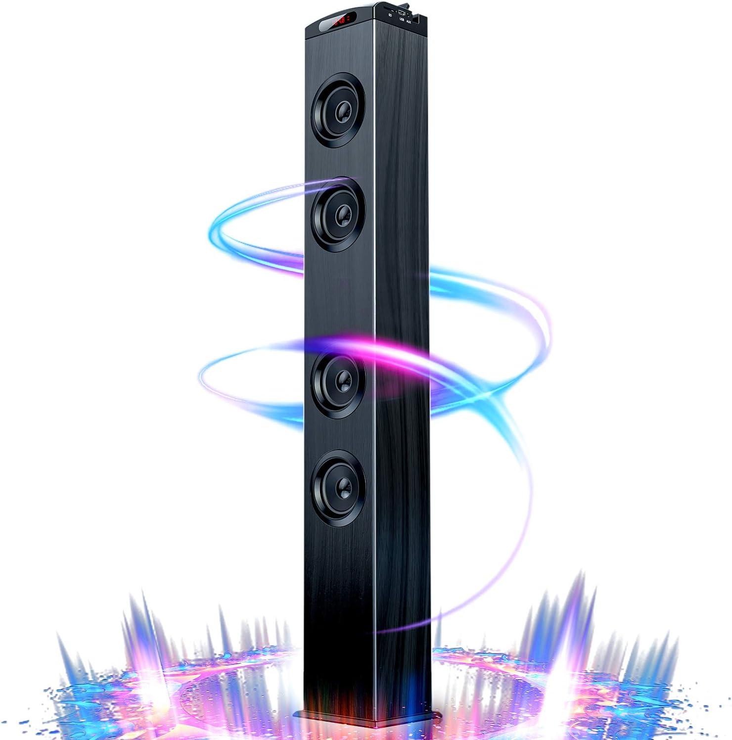 Floor Standing Bluetooth Tower Speaker, Floor Speakers for Home Stereo  System, Floor Standing Speakers Home Theater, VENLOIC Bluetooth Tower  Speakers