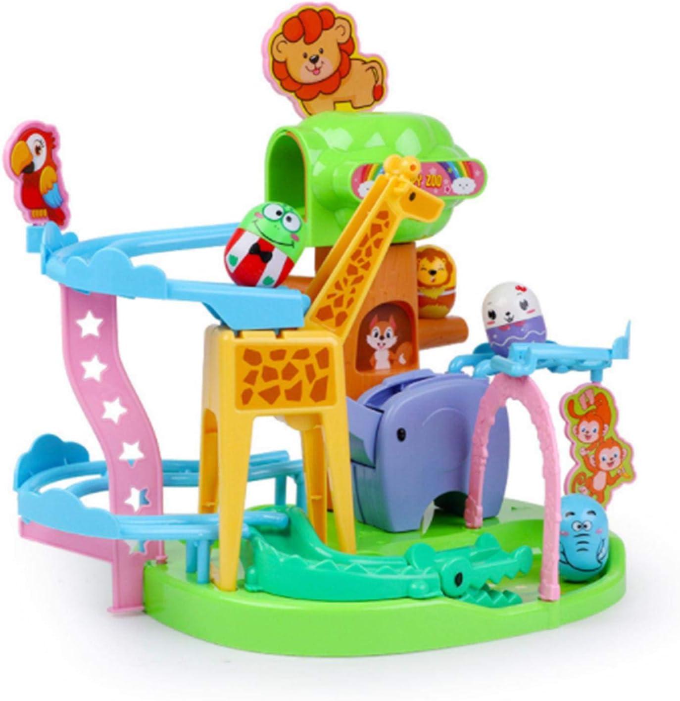 Heshengwan Track Run Building Toys, Animal Track Marble Run Juegos educativos Stem Juguetes de construcción Roly-Poly Ball Drop Toys, Regalos de cumpleaños de Navidad para niños niñas niños