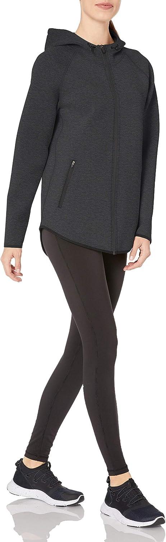 outerwear-jackets Donna Longer Length Bonded Tech Fleece Full-zip Hooded Jacket Essentials