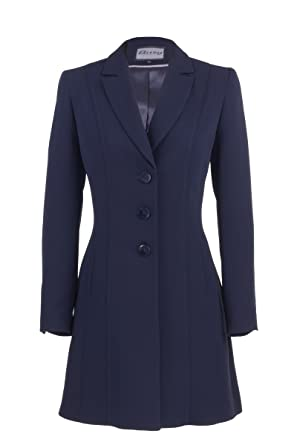 Busy Clothing Womens Navy Long Suit Jacket  Amazon.co.uk  Clothing fe17b2394c
