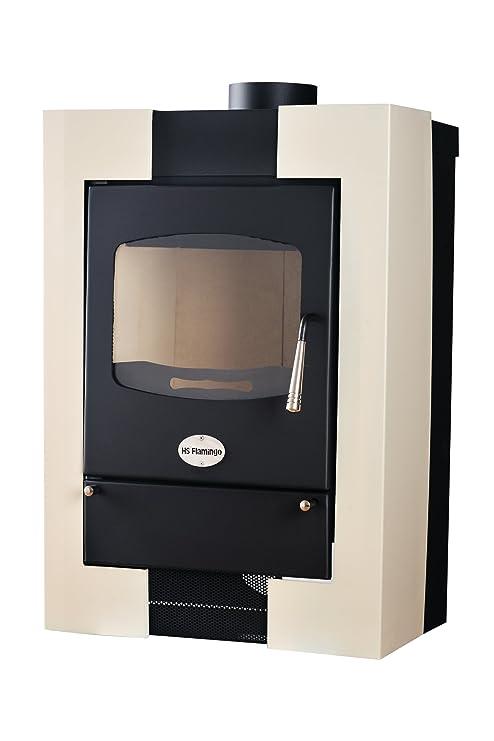 Estufa-chimenea Estufa de leña Espo II Creme, 3-12 kW,disipación
