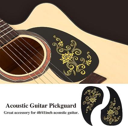#2 Chitarra Acustica Pickguard Battipenna Scratch Plate per Accessorio per or 40//41Policci Chitarra Folk