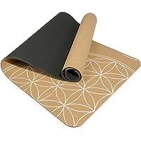 Navaris yogamat van duurzaam kurk - Anti-slip sportmat met schouderriem - Trainingsmat voor yoga en pilates - 183 x 61 x…
