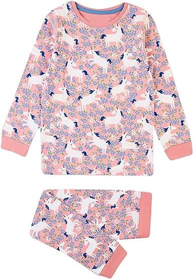 2 Piezas Pijamas Niña Manga Larga Conjunto Algodón Invierno ...