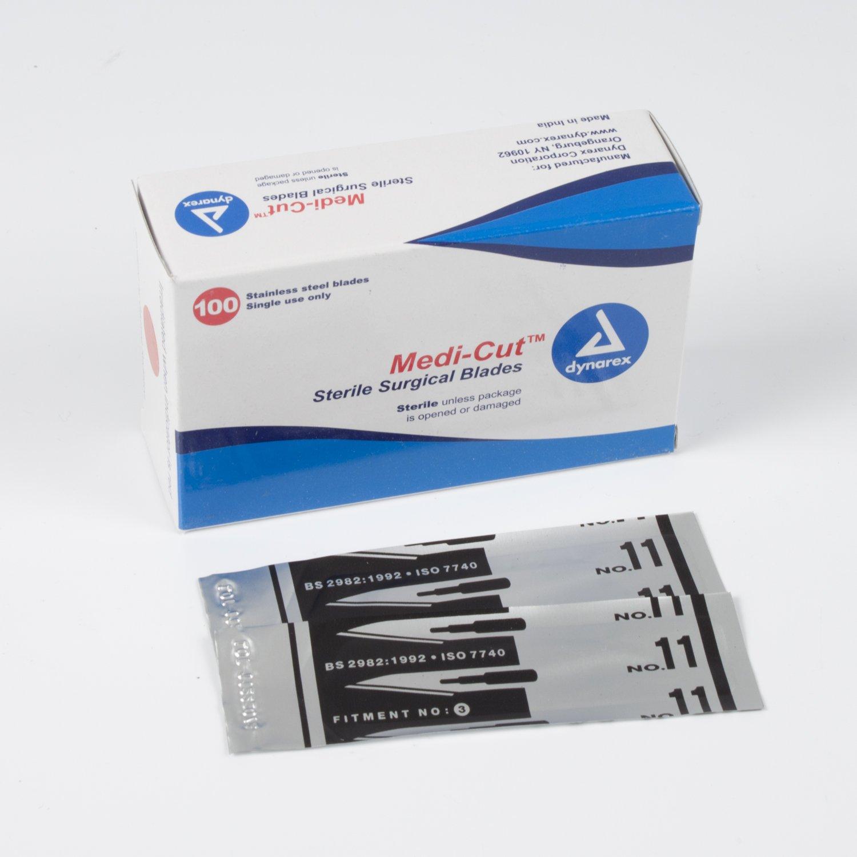 Dynarex Medicut™ Blades #11 100/Bx by Dynarex