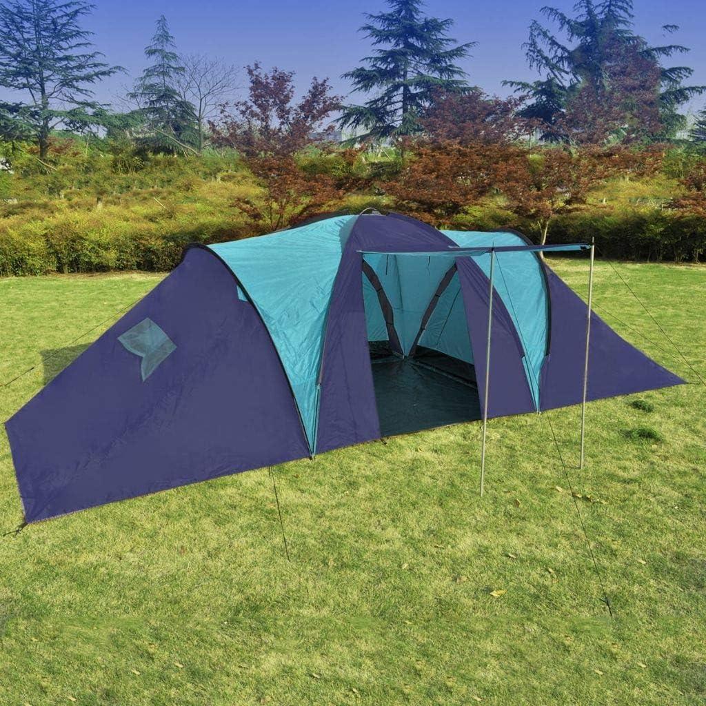 Festnight Tienda de Campaña para Camping Azul Oscuro y Azul ...