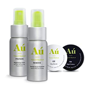 Au Natural Skinfood Travel Kit   Natural Cruelty Free Skincare Made in New Zealand Travel Size Pack   Natural Skincare Minis with 16+ Manuka Honey and Bee Venom  Certified   Food For Your Skin