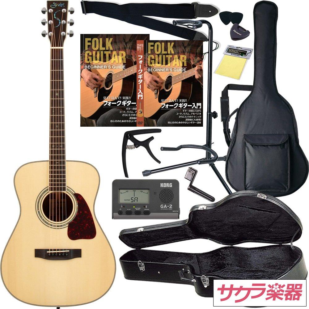 S.Yairi ヤイリ アコースティックギター YF-5R/N ハードケース付属 サクラ楽器オリジナル 初心者入門セット B004RLBJOE N N