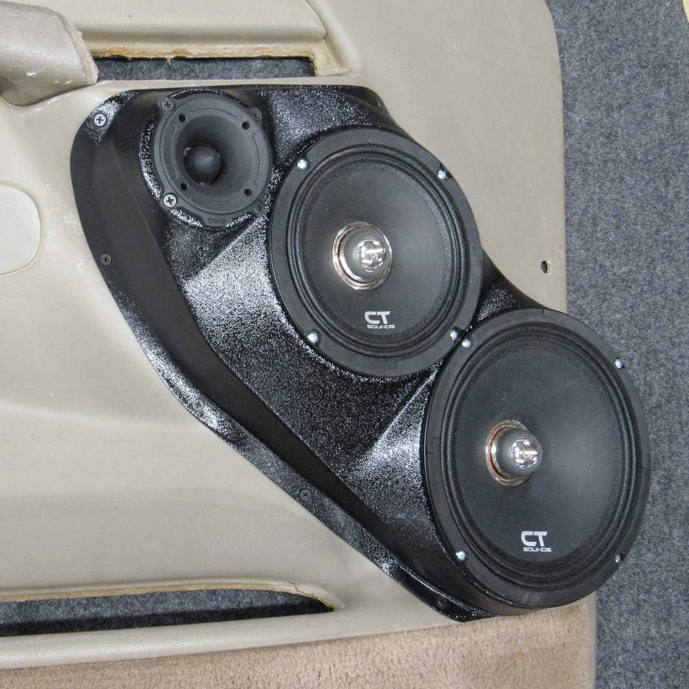 Silverado Suburban Yukon Stereo System Upgrade Installation Sierra Custom Speaker Pods Three Way Front Door Pods for 8 6.5 and 3.5 2000-2006 Chevrolet Tahoe