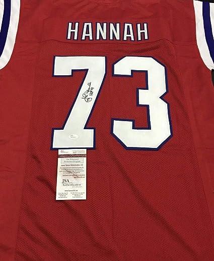 John Hannah Autographed Signed Patriots Jersey Inscribed HOF 91 Memorabilia  - JSA Authentic 89eb4933d