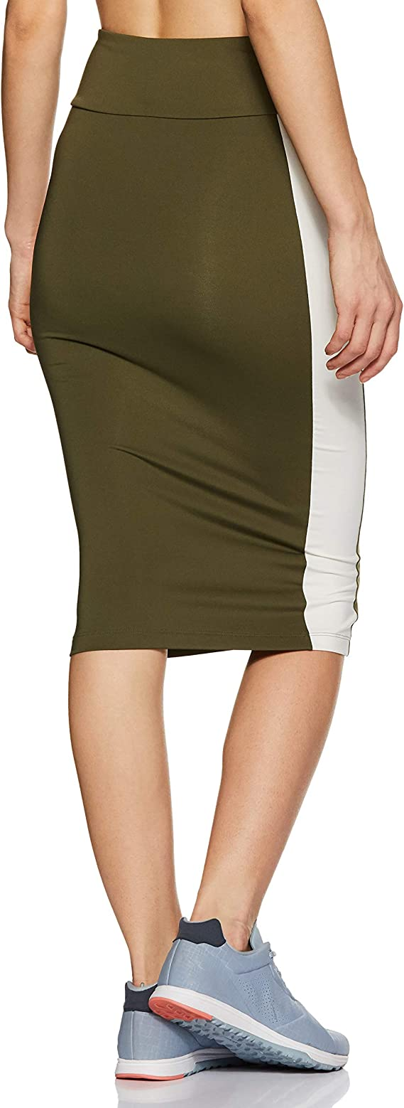 PUMA Damen Archive Logo Pencil Skirt Rock: : Bekleidung
