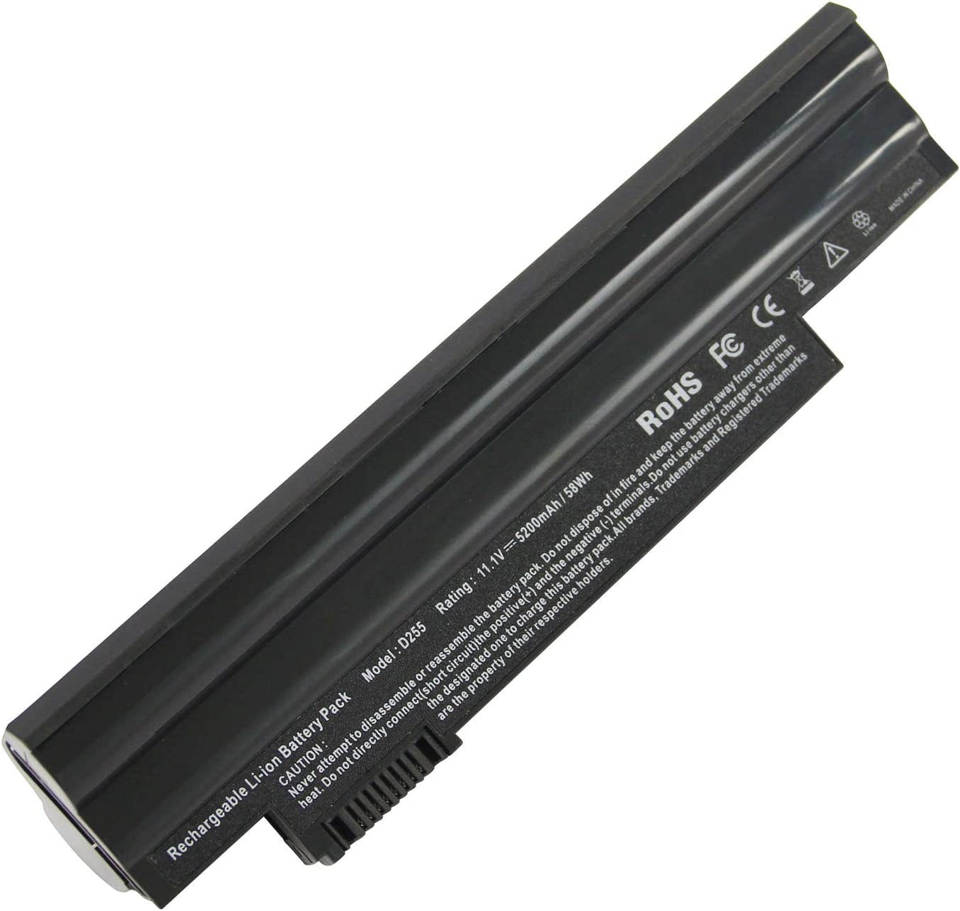 ARyee AL10A31 Laptop Battery for Acer Aspire One D255 D257 D260 522 722 Al10a31 Al10b31 Al10bw Al10g31 BT.00303.022 BT.00603.114 LC.BTP00.129 LC.BTP0A.007 LC.BTP0A.019
