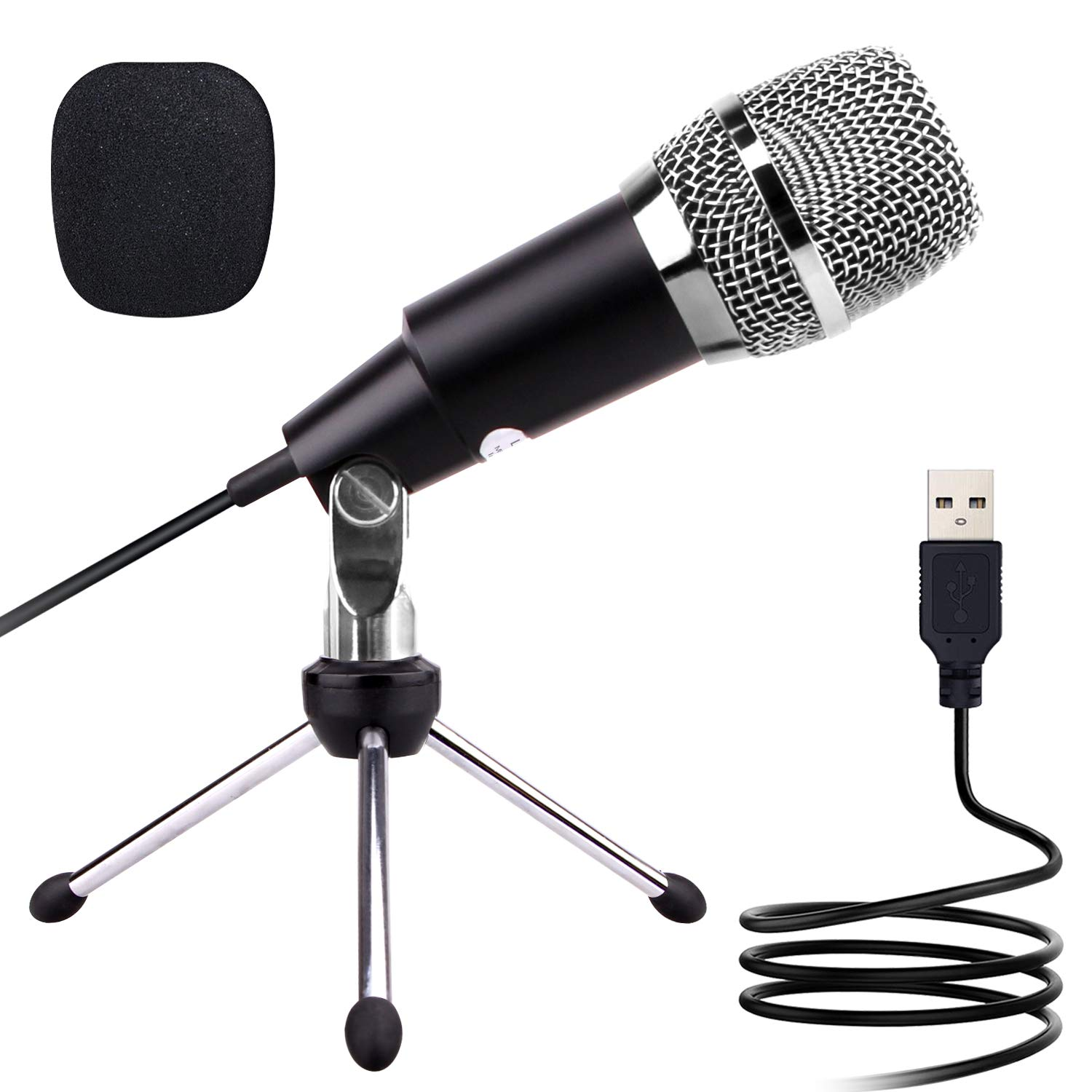 USB Microphone, LATZZ Conference Microphone, Plug & Play USB Condenser Microphone Compatible Mac and Windows Computer for Skype, Recording, YouTube, Podcast, Games
