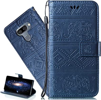 LEECOCO Embossed Floral 3D Handmade Bling Crystal Diamonds Butterfly with Card Slots Flip Stand Premium PU Leather Wallet Case for LG G6 with 1 x Stylus Pen Bling Butterfly Green LG G6 Case