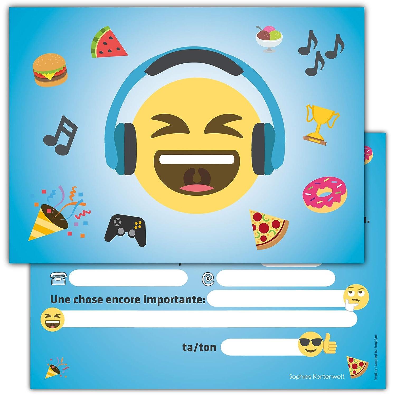 12 Cartes D Invitation Anniversaire Enfant Smiley Cartes Invitations Filles Garçons Enfants Carte Invitation Fête De Emoji Assortiment De
