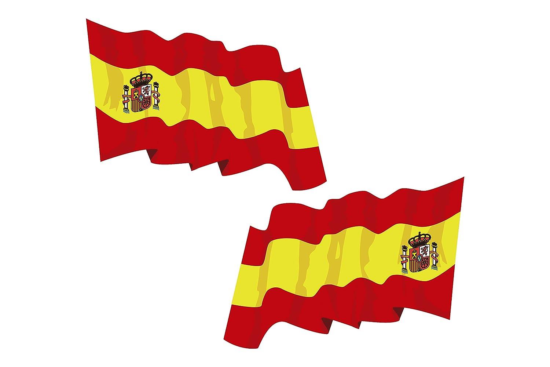 BC Corona ADH06590 Pegatina Bandera España, 2 UDS, Set de 2: Amazon.es: Coche y moto