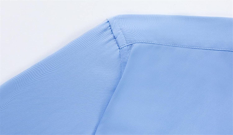 YYear Men Non-Iron Basic Short Sleeve Formal Business Dress Shirts