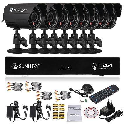 SUNLUXY® 8CH 960H Tiempo Real DVR Videovigilancia Grabadora D1 H.264 HDMI + 8