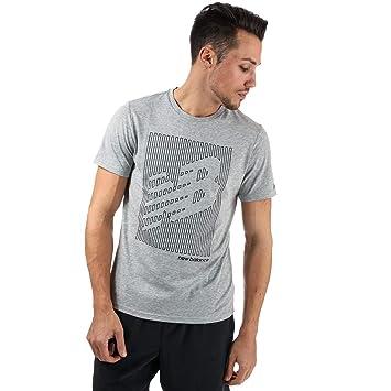 4ad8348ec3d00 Mens New Balance Mens Heather Tech NB Graphic Short Sleeve T-Shirt in Grey -