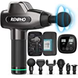 RENPHO Massage Gun, Deep Tissue Muscle Massager, Powerful Percussion Massager Handheld with Portable Case for Home Gym Workou
