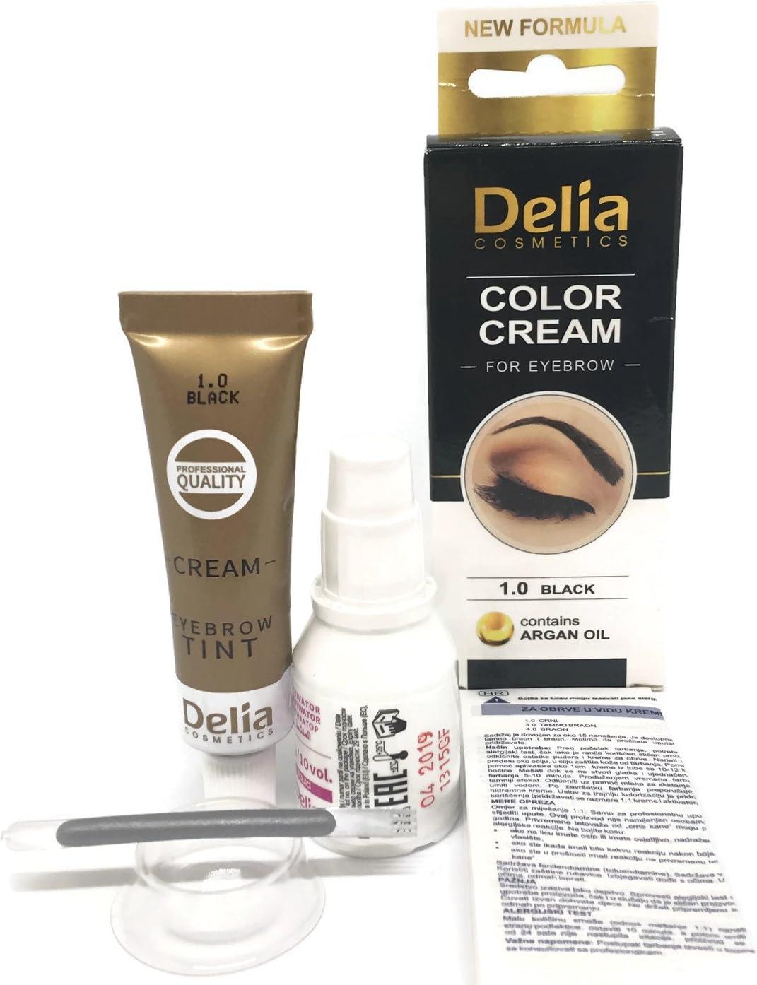 Tinte profesionales para cejas y pestañas profesionales, 15ml KIT Delia Negro/Marrón/Marrón Oscuro (Negro)