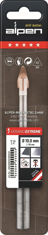 ALPEN 30000600100 HM-Fliesenbohrer Keramo Extreme L/änge 115 mm Bohrer /ø 6.0 mm