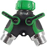 ikris Garden Hose Splitter 2-way with Rubberized ComfortGrip