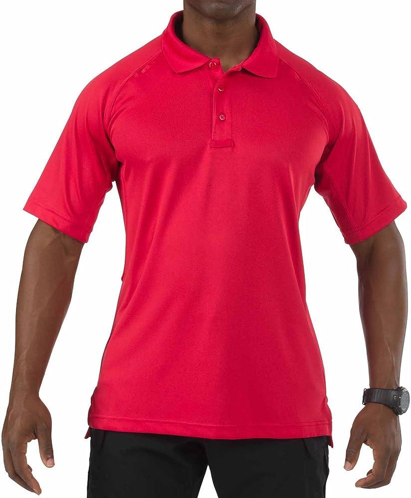 5.11 Performance - Polo para Hombre, Color Rojo, Talla XS: Amazon ...