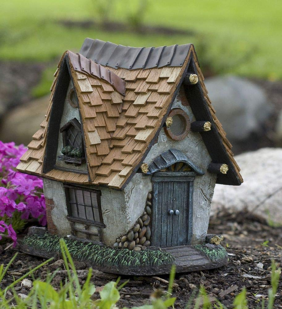 Fairy Garden Mini - Cottage Crooked Creations Solar Home