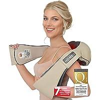 Donnerberg Shiatsu massageapparaat met warmte voor nek schouders rugmassage + TRILFUNCTIE 4D nekmassageapparaat TÜV…