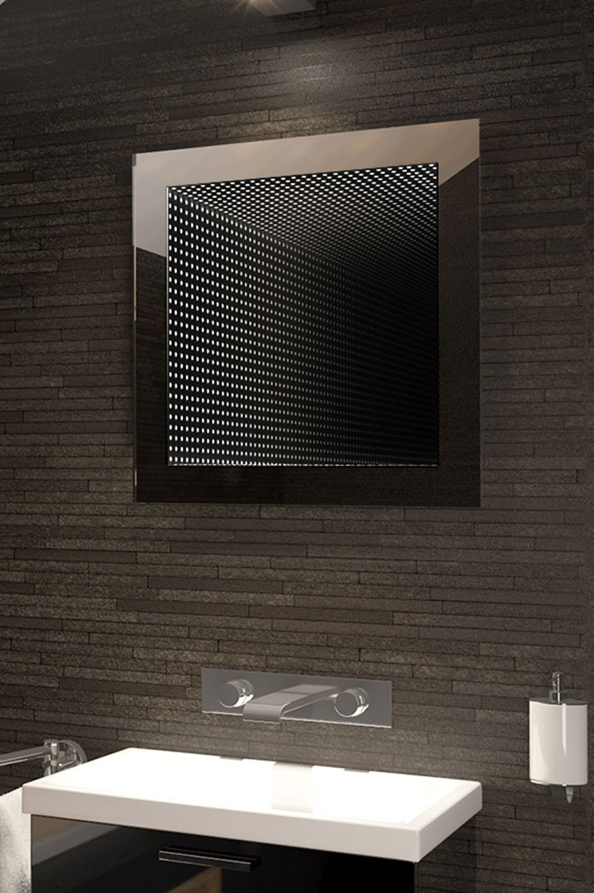 Infinity bathroom mirror - Amazon Com Perfect Reflection Led Bathroom Infinity Mirror K211 Home Kitchen