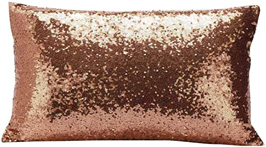 Sparkling rectangle Home Decoration Sequin shine pillow Cushion Cover silver
