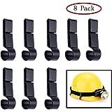 Helmet Clips for Headlamp,Headlight Hook on Narrow-Edged Hardhat Safety Cap(8pack)
