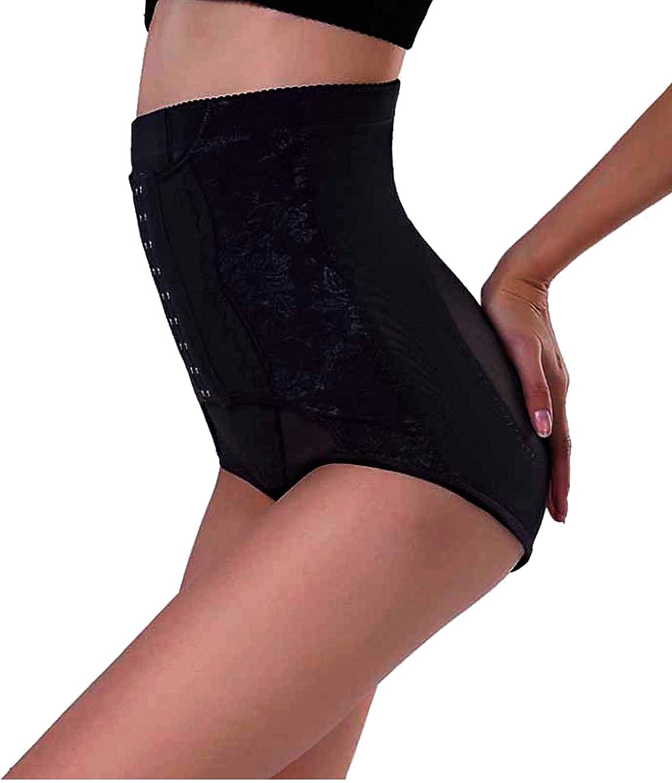 Junlan Hook /& Eye Closure Perfect Hi-Waist Tummy Control Butt Lifter Panties