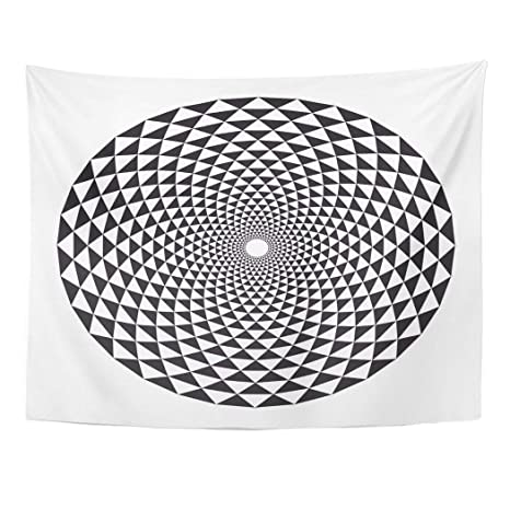 Amazon.com: Emvency Wall Tapestry Geometric Sacred Geometry ...