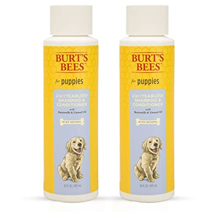 Burt's Bees for Dogs All-Natural Tearless 2 In 1 Shampoo & Conditioner | Best Shampoo & Conditioner for All Dogs & Puppies
