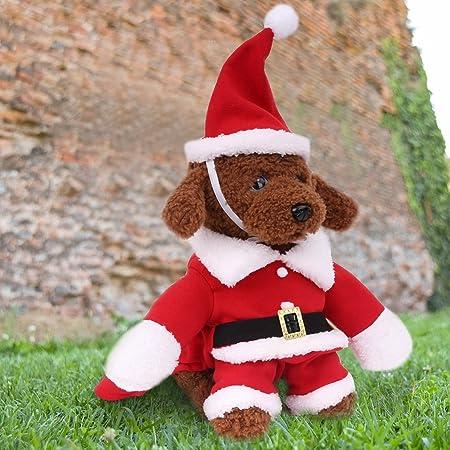 Kids SANTA PAWS Carino Carlino Cane a Santa Cappello Natale Maglione Felpa Maglione