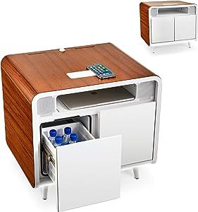 Sobro Smart Side Table, Wood/White