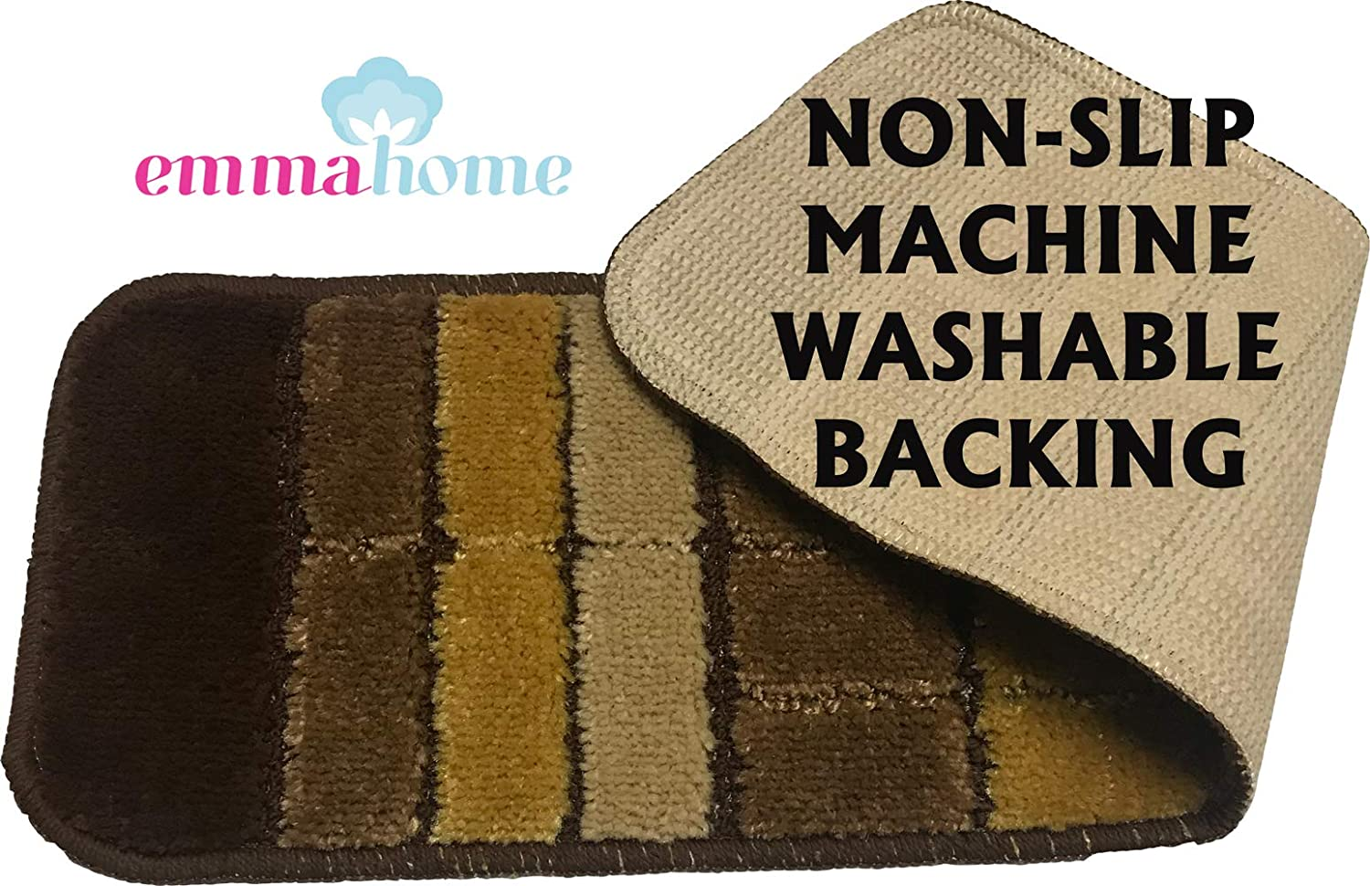13pcs WATERFALL FUME Emmahome NEW Carpet Stair Treads NON-SLIP MACHINE WASHABLE Mats//Rugs UNIQUE IN LONDON