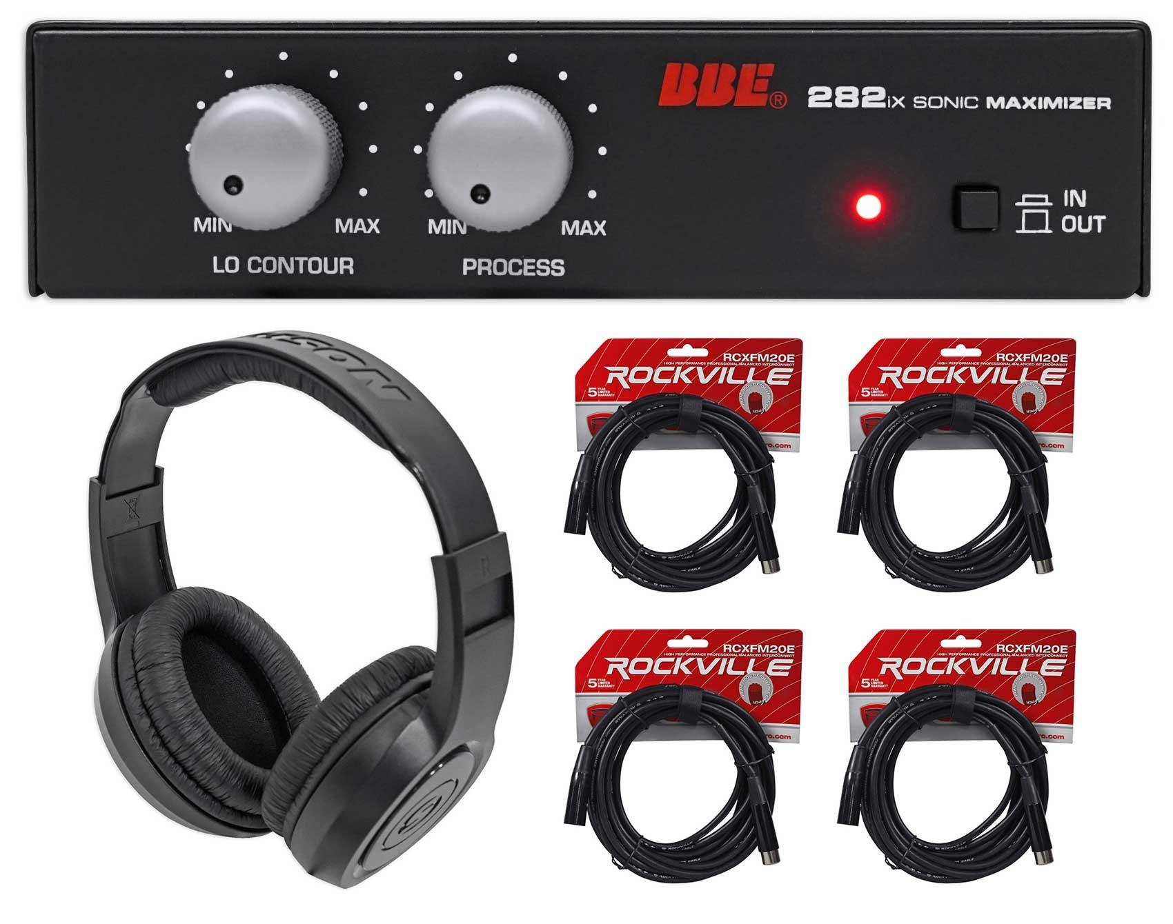 BBE 282IX Desktop Sonic Maximizer w/XLR Inputs/Outputs+Headphones+(4) XLR Cables