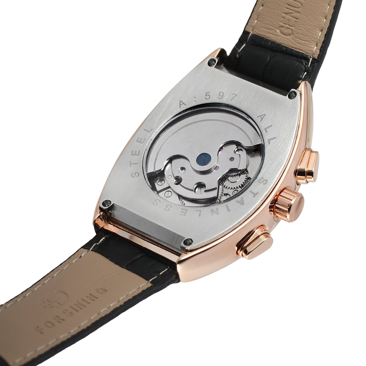 Forsining Men's Automatic Self-winding Tourbillon Calendar Brand Learher Strap Collectiton Watch FSG9409M3R5 by FORSINING (Image #2)