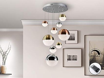 Schuller Moderne Lampen Sphere 9 L Mit Fernbedienung 50 X 50 Cm Amazon De Beleuchtung