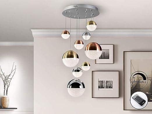 Schuller - Lamparas Modernas - Lampara Sphere 9L Dimable con Mando (50x50)